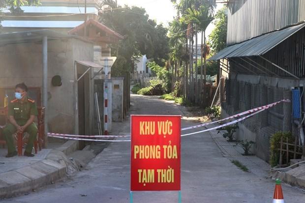 新冠肺炎疫情:广治省继续封锁东河市的三个高风险地区 hinh anh 1