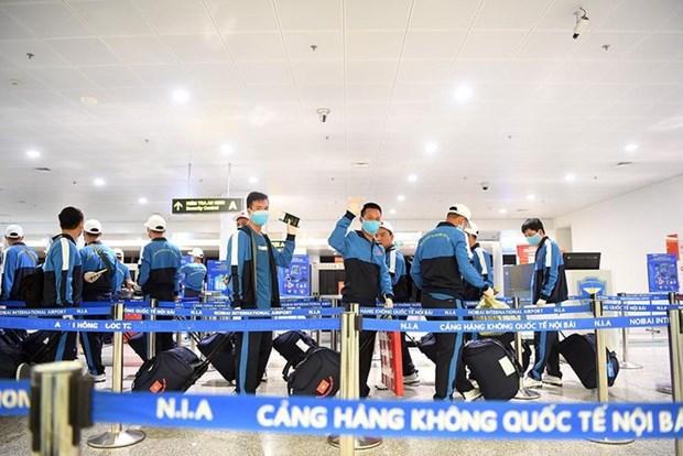 参加2020年国际军事比赛的越南人民军代表团安全抵达俄罗斯 hinh anh 2