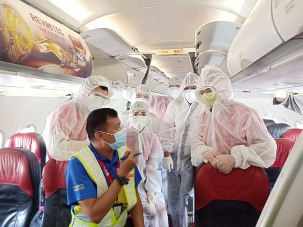 越捷计划将被困在岘港市的游客送回河内和胡志明市 hinh anh 1