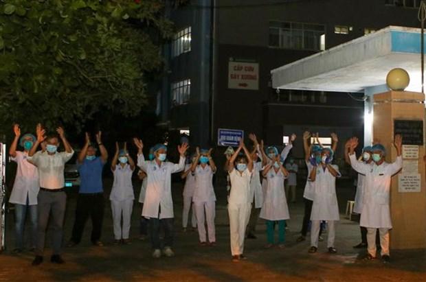 新冠肺炎疫情:岘港市海州郡对最大疫区解除封锁 hinh anh 1
