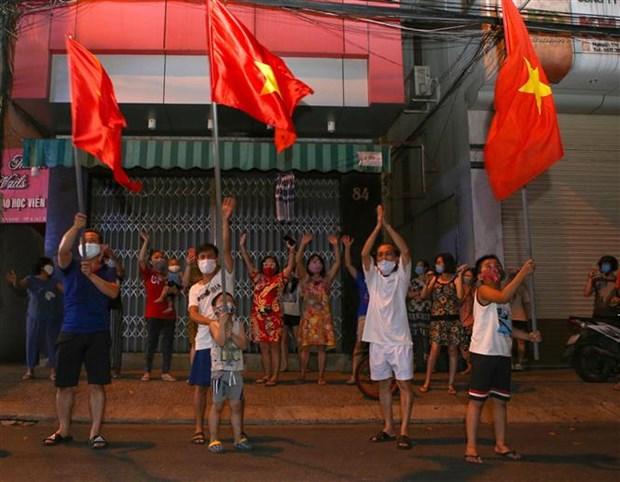 新冠肺炎疫情:岘港市海州郡对最大疫区解除封锁 hinh anh 2