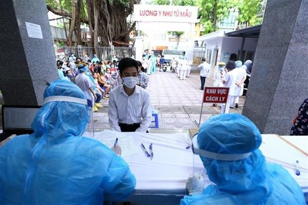 新冠肺炎疫情:河内市加快推进PCR核酸检测 hinh anh 1