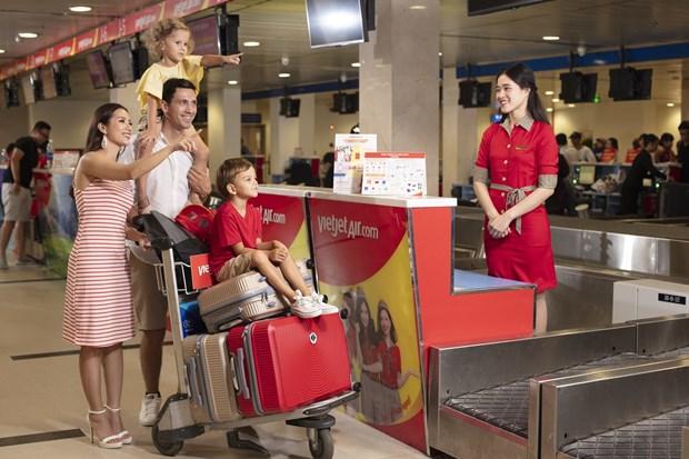越捷航空推出免费托运15公斤行李的优惠 hinh anh 1