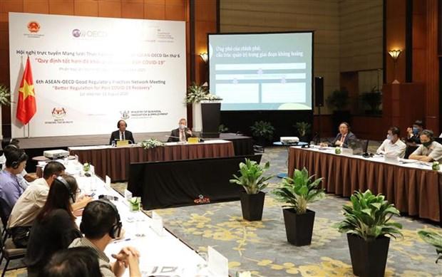 2020东盟轮值主席国:东盟与经合组织良好监管实践网络视频会议召开 hinh anh 2