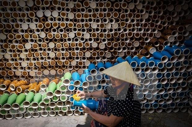 """河内市努力实现发展""""一乡一品""""产品与发挥传统手工艺村价值并行 hinh anh 1"""