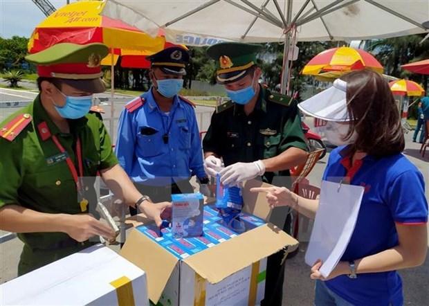 越通社继续为岘港市提供医疗防护物资 hinh anh 2