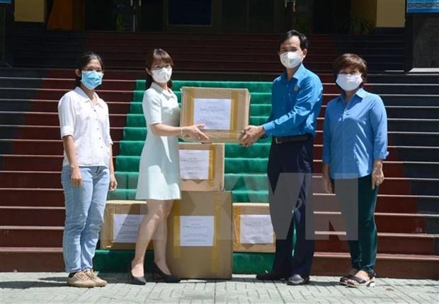 越通社继续为岘港市提供医疗防护物资 hinh anh 1