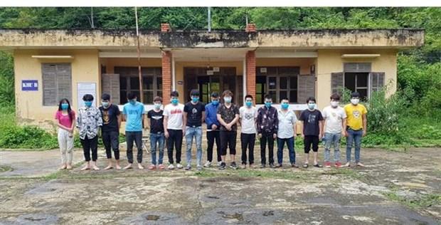 违法入境越南的15名中国人被抓并进行医学隔离 hinh anh 1