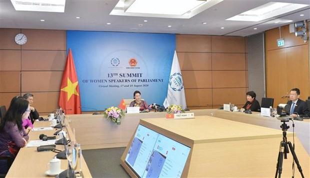 越南国会主席阮氏金银出席第十三届全球女性议长峰会 hinh anh 2