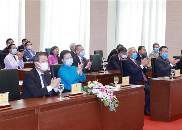 越南国会主席阮氏金银出席新潮国民大会75周年、八月革命和九•二国庆节75周年纪念活动 hinh anh 2