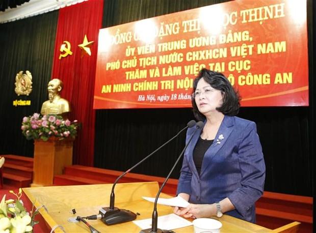越南国家副主席:保护内部政治安全是特别重要任务 hinh anh 2
