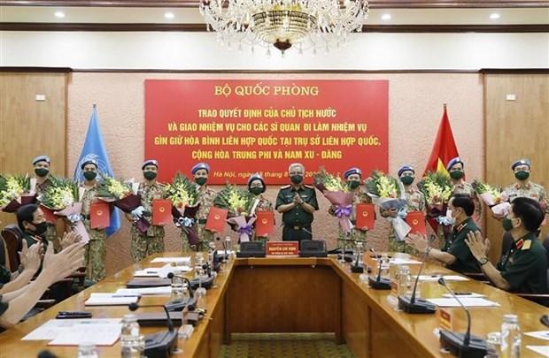 越南增派10名军官参加联合国维和行动 hinh anh 1