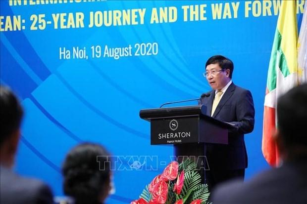 """""""越南与东盟:过去25年和未来征程""""国际视频研讨会召开 hinh anh 2"""