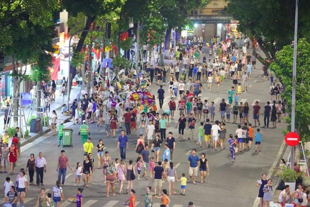 从8月21日起河内市还剑湖周边步行空间暂时关闭 hinh anh 1