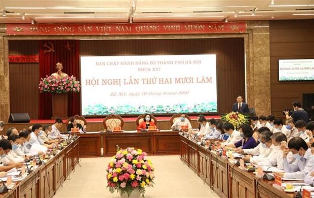 越共河内市第十六届委员会第25次会议召开 hinh anh 1