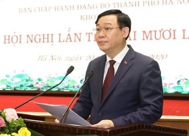越共河内市第十六届委员会第25次会议召开 hinh anh 2