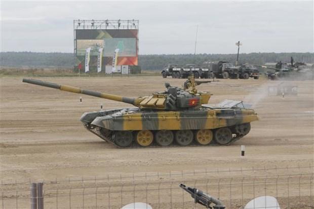 """国际军事比赛-2020:越南参赛队在""""坦克两项""""比赛第二组名列第二 hinh anh 1"""