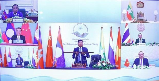 湄公河—澜沧江合作第三次领导人会议召开 hinh anh 3