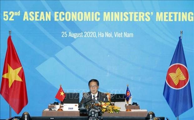 2020东盟年:第52届东盟经济部长会议重点讨论实施经济计划进展等问题 hinh anh 1