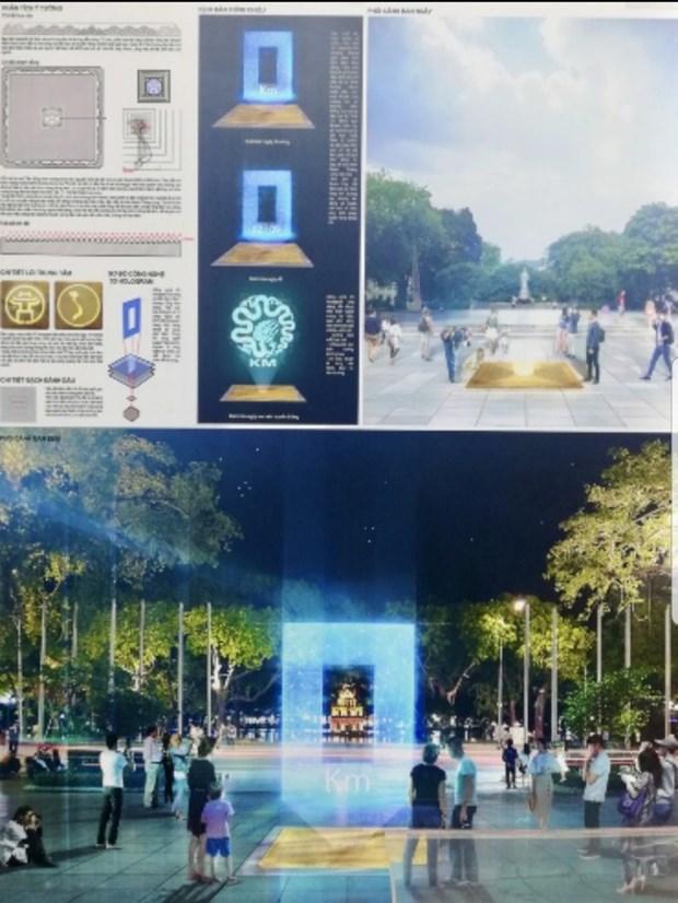 零公里标志——首都河内的文化象征 hinh anh 1