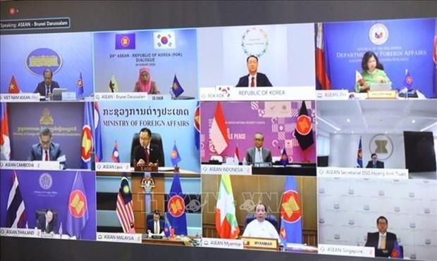 2020东盟轮值主席年:第24次东盟-韩国副部长级年度对话会以视频形式召开 hinh anh 1
