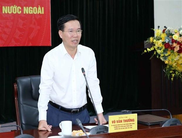 越共中央宣教部部长武文赏会见2020-2023年任期越南驻外大使和代表机构首席代表 hinh anh 2