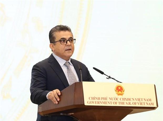 巴勒斯坦驻越大使:越南翻身成为地区的亮点 hinh anh 1
