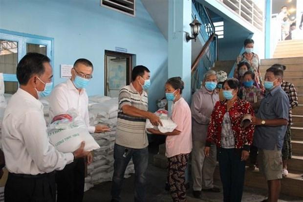 协助越裔柬埔寨人的第四批新冠肺炎疫情紧急援助计划正式启动 hinh anh 2