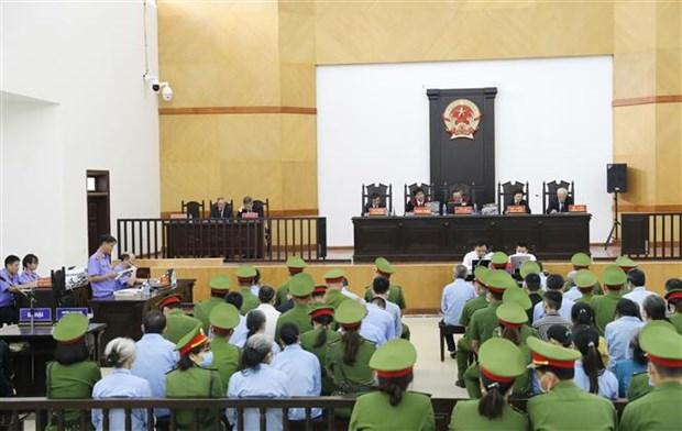 河内市美德县同心乡谋杀和妨碍公务案:29名作案人出庭受审 hinh anh 2