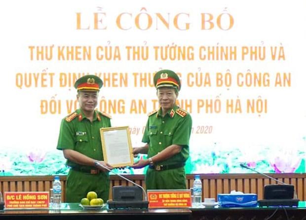 越南政府总理阮春福致信表彰河内公安 hinh anh 1