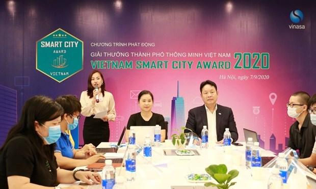 2020年越南智慧城市奖启动仪式在河内举行 hinh anh 1
