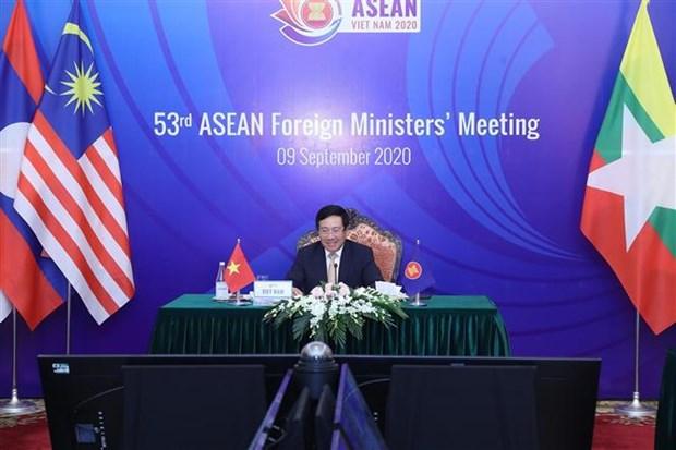 ASEAN 2020:第53届东盟外长会议以视频方式召开 hinh anh 2