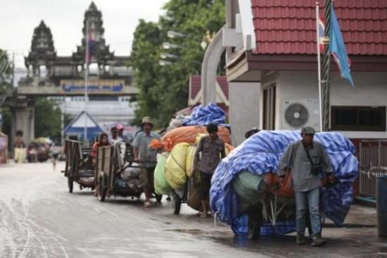 泰国1-7月边境过境贸易同比下降8.5% hinh anh 1