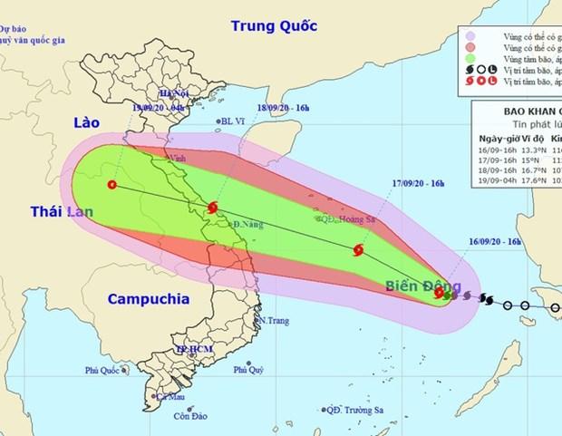 越南政府总理关于应对第五号台风的通知 hinh anh 2