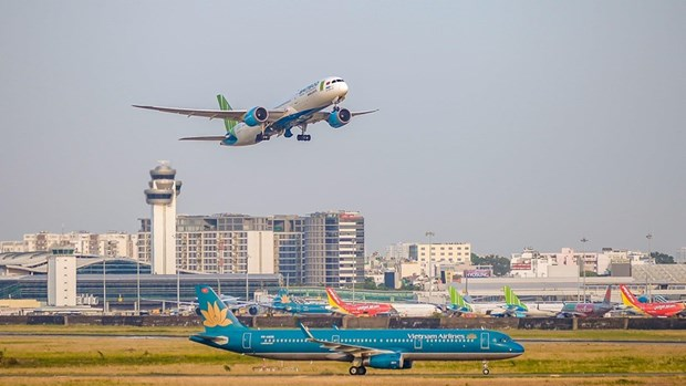 越南航空业采取措施应对第5号台风的影响 hinh anh 1