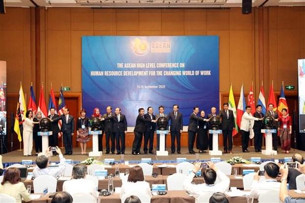 变换中的劳务世界的人力资源开发东盟劳动教育部长级会议召开 hinh anh 2
