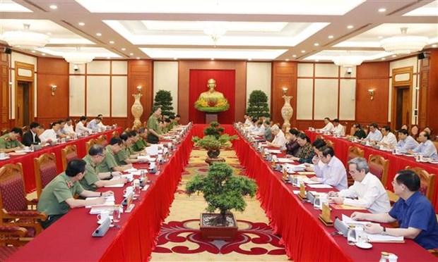 面向越共十三大:越共中央政治局与中央公安党委常委会举行工作座谈会 hinh anh 2