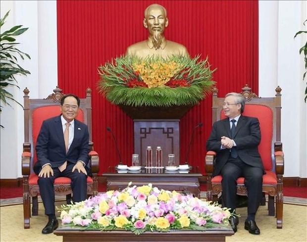 越南与韩国促进新形势下的关系 hinh anh 1