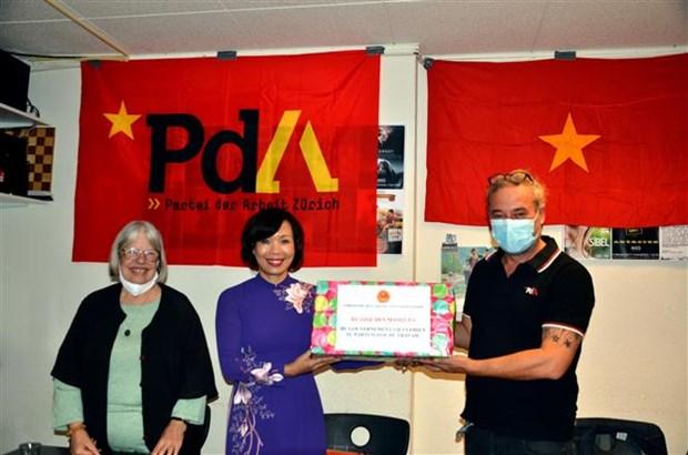 瑞士劳动党举行越南宣读独立宣言75周年纪念仪式 hinh anh 2