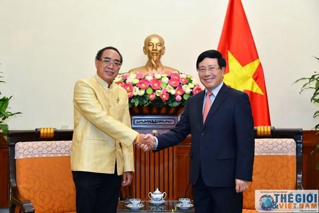 越南政府副总理兼外长范平明会见泰国驻越大使 hinh anh 1