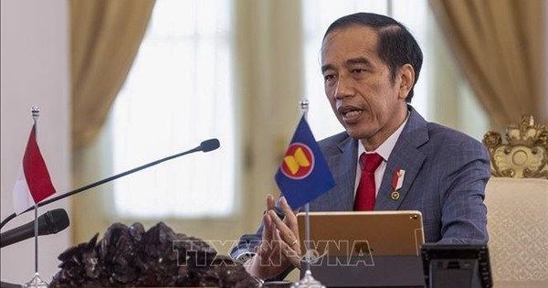 印度尼西亚总统:如果地缘政治冲突继续加剧,全球的和平与稳定可能会遭到破坏 hinh anh 1