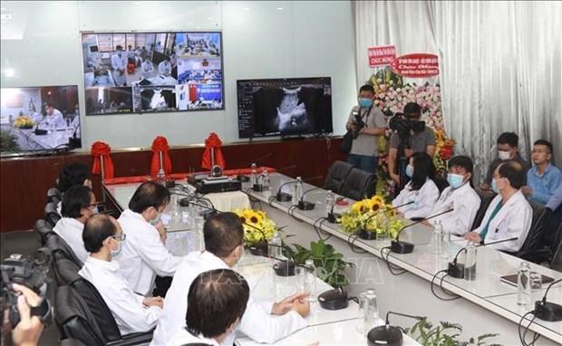 大水镬医院与300个远程医疗会诊室进行连接 hinh anh 1