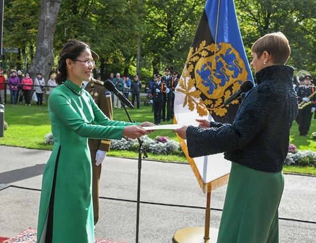 爱沙尼亚总统相信与越南的友好关系将继续向前发展 hinh anh 1