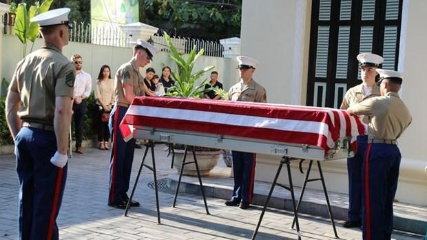 美军遗骸回国仪式在河内举行 hinh anh 1