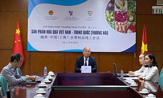 越南-中国(上海)水果制品线上会议吸引双方约40家企业参加 hinh anh 1