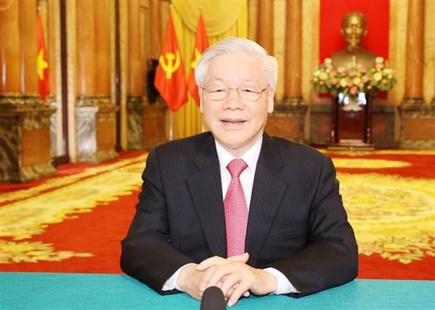 越共中央总书记、国家主席阮富仲以提交讲话录像方式参与第75届联大一般性辩论 hinh anh 1