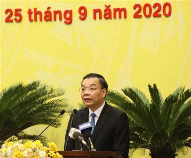 党建:朱玉英同志当选河内市人民委员会主席 hinh anh 2