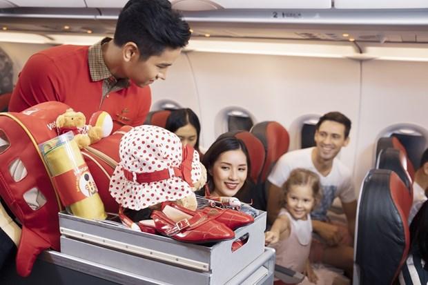越捷航空恢复飞往韩国的航线 推出升级的SkyBoss 舱和Deluxe舱机票 hinh anh 2