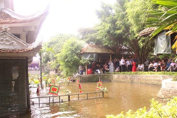 北宁省顺成县的独特的同鱼村水上木偶戏 hinh anh 1