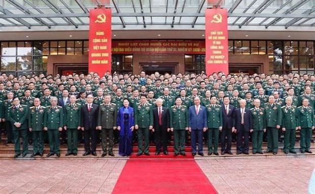 迎接党的十三大:越共军队第十一次代表大会开幕 阮富仲出席并发表指导性讲话 hinh anh 1